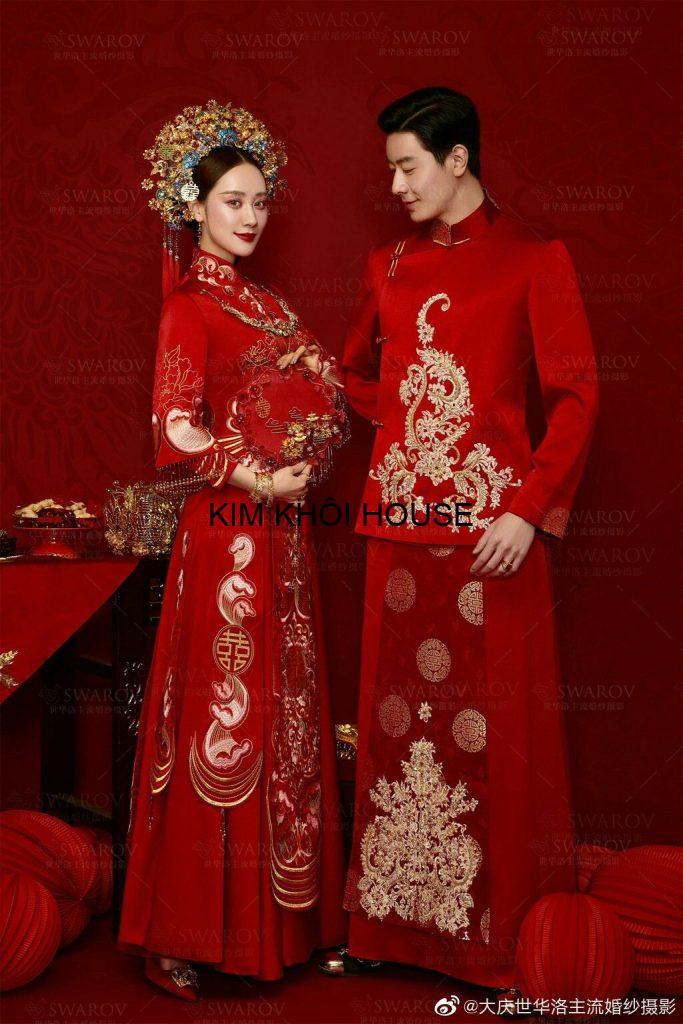 Áo cưới trung quốc cặp đôi tại Kim Khôi Shop