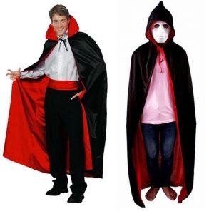 Áo choàng cosplay đen đỏ