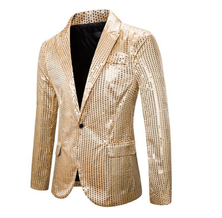 Vest kim sa sequin vàng