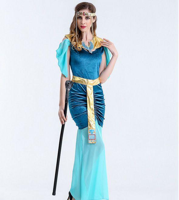 Trang phục Nữ hoàng Ai Cập Xanh
