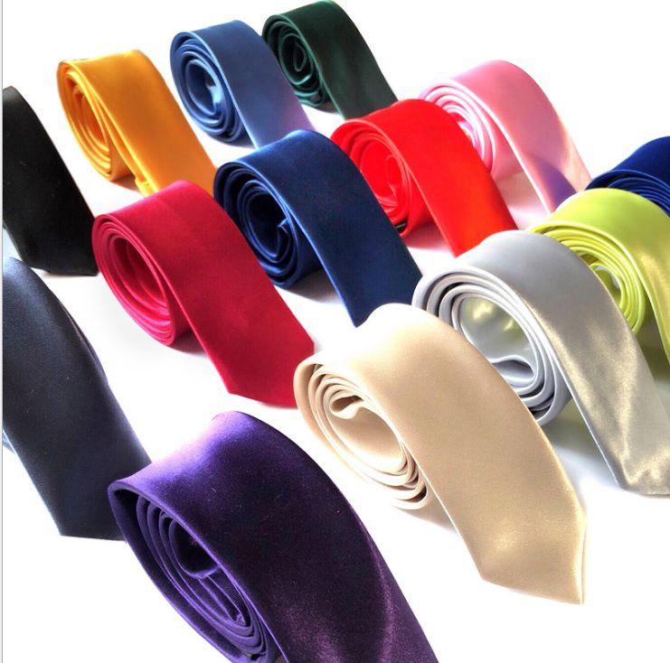 Cà vạt nam nữ trơn bản nhỏ đủ màu sang trọng