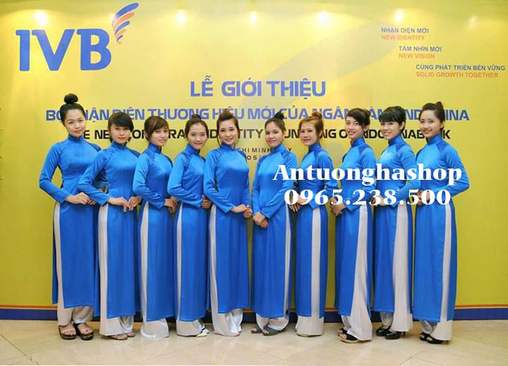 Dịch vụ cho thuê trang phục áo dài lễ tân xanh dương