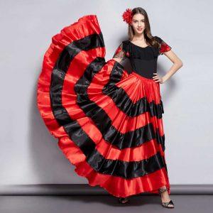 Váy Tây Ban Nha Flamenco Đỏ Đen