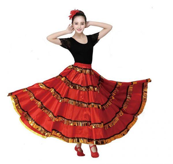 Váy Tây Ban Nha Flamenco Vàng Đỏ
