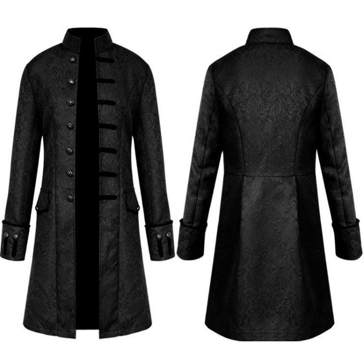Áo măng tô hoàng gia nam màu đen