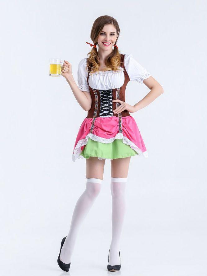 Trang phục nước Đức màu hồng sen