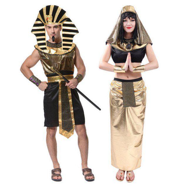 Trang phục Pharaoh Ai Cập Vàng đen