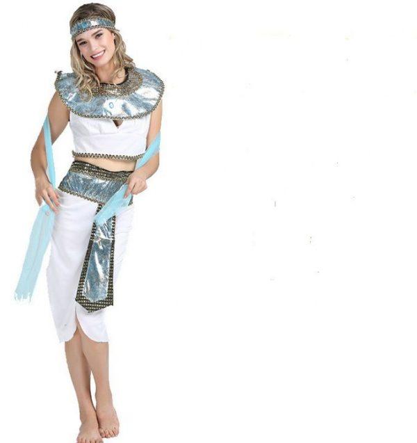 Trang phục Nữ Hoàng Ai Cập Trắng Xanh